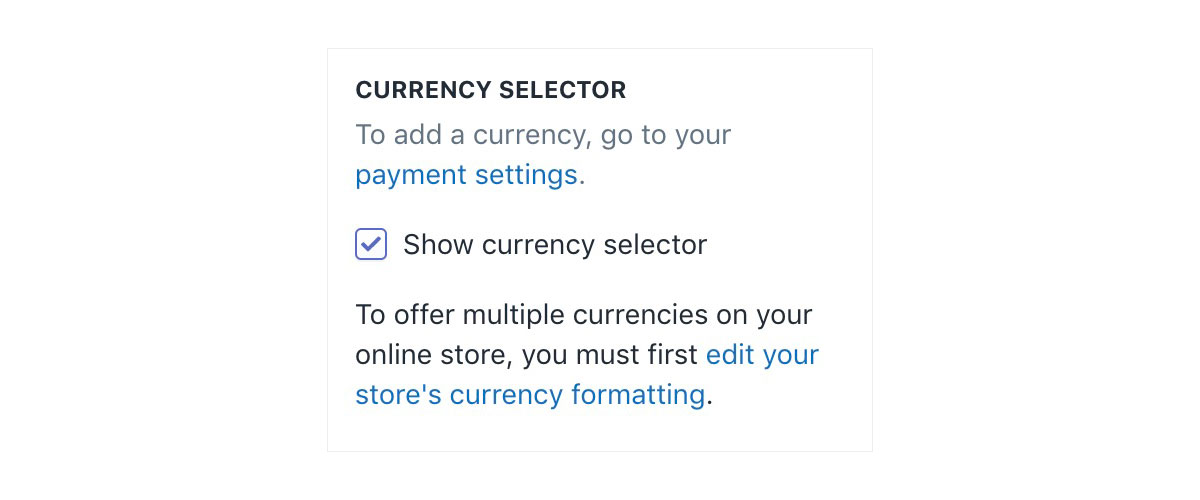 enable currency converter